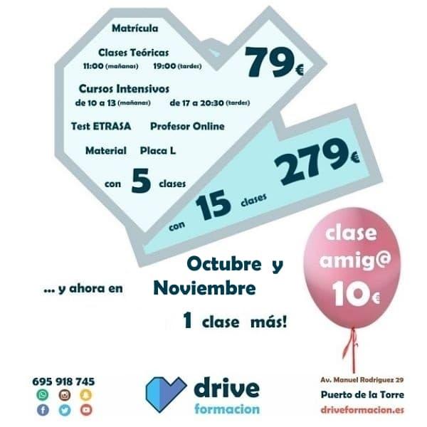 Oferta clases practicas de coche en Puerto de la Torre Málaga