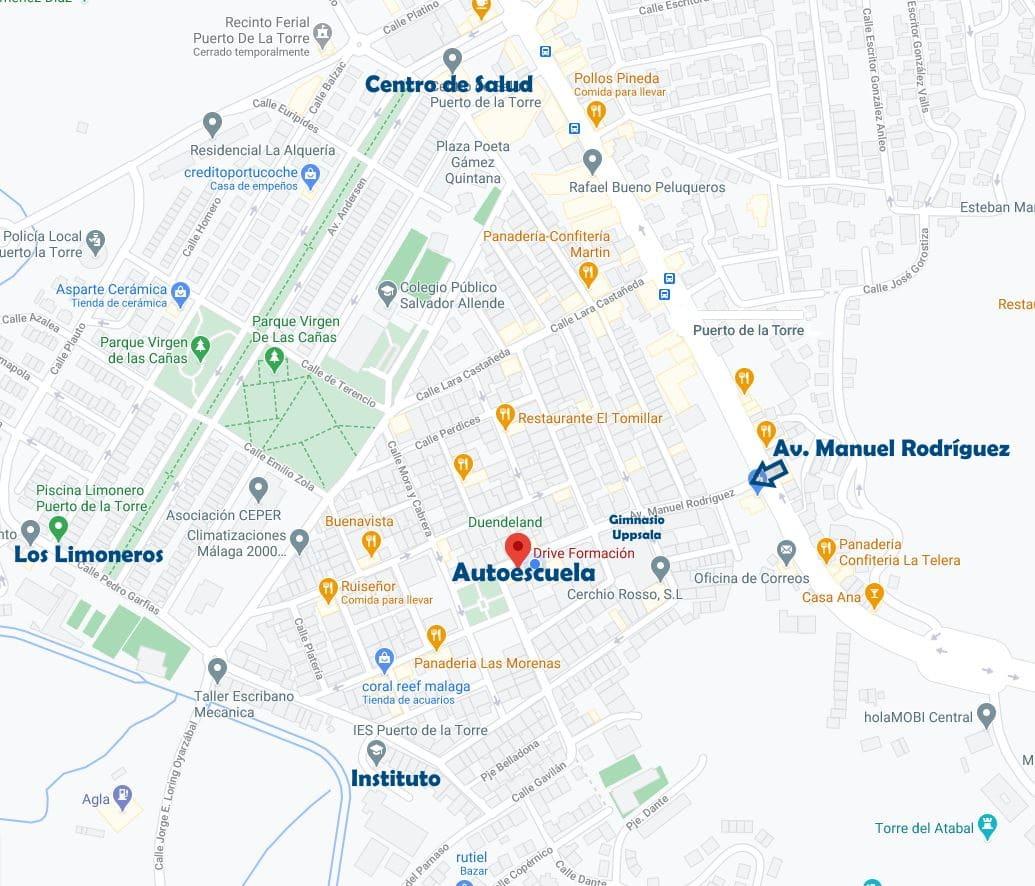 mapa autoescuela drive puerto de la torre